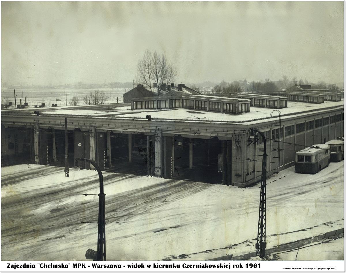 """Zajezdnia """"Chełmska"""", fot. archiwum MZA"""