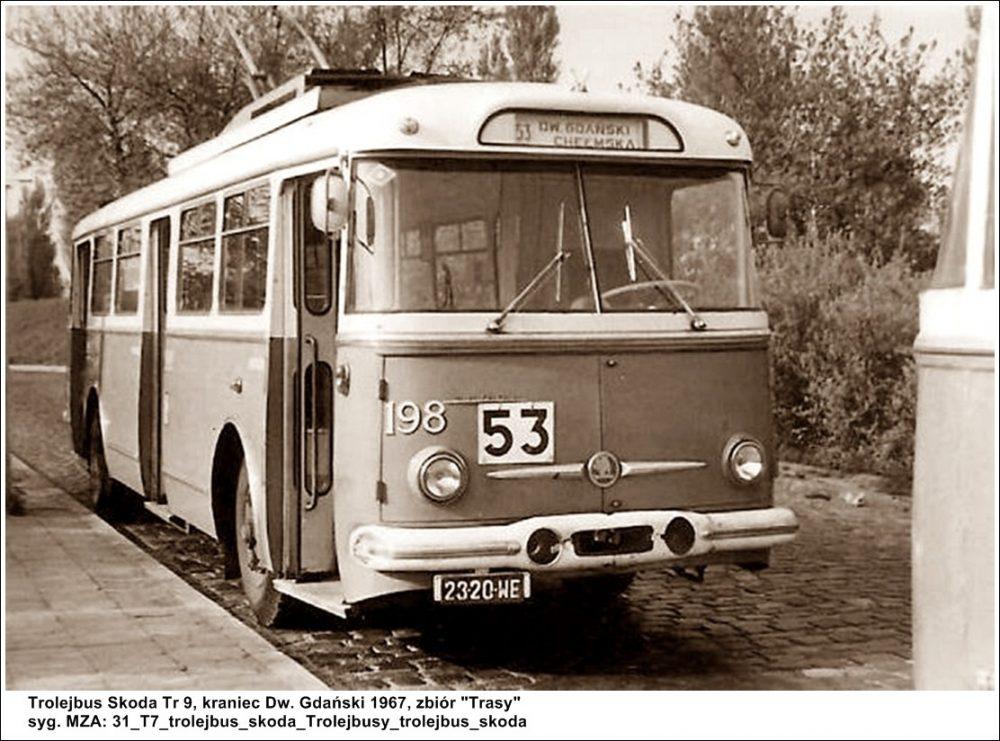 Trolejbus Skoda 9Tr, fot. Trasy