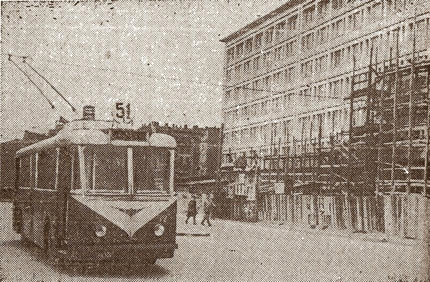 Trolejbus Vetra, fot. Życie Warszawy, 5.10.1950