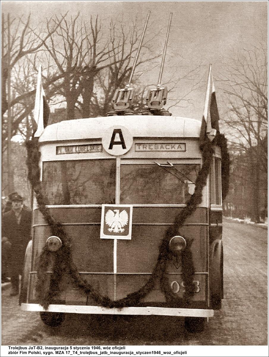 Trolejbus JaTB-2, fot. Archiwum MZA