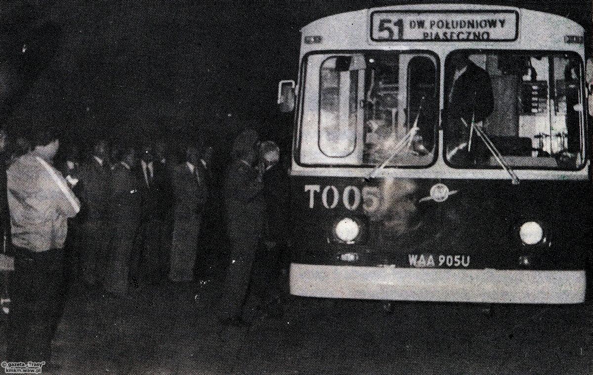 Wyjazd pierwszego trolejbusu na linię, fot. Trasy