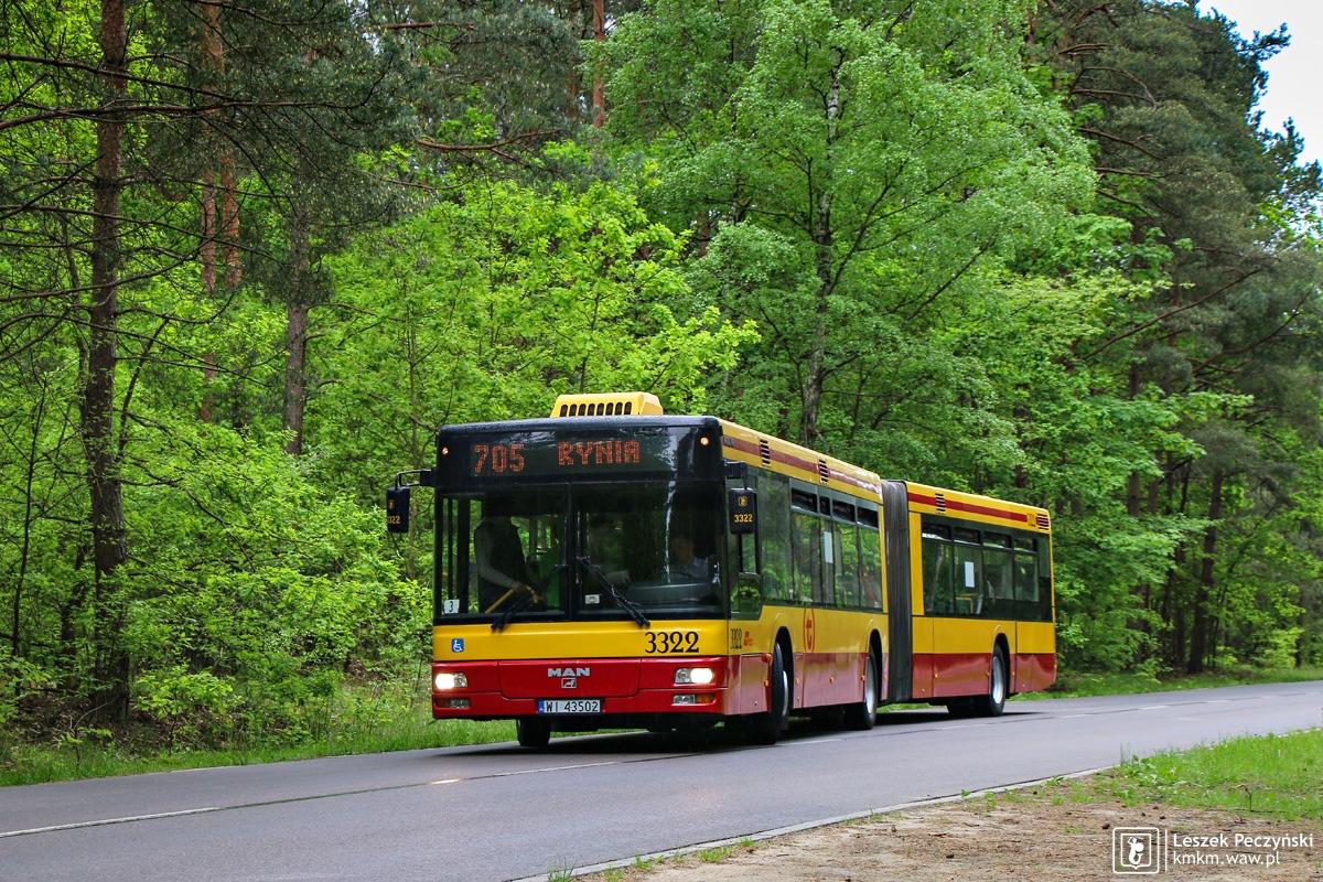 MAN NG313 nr 3322 w lesie w Ryni