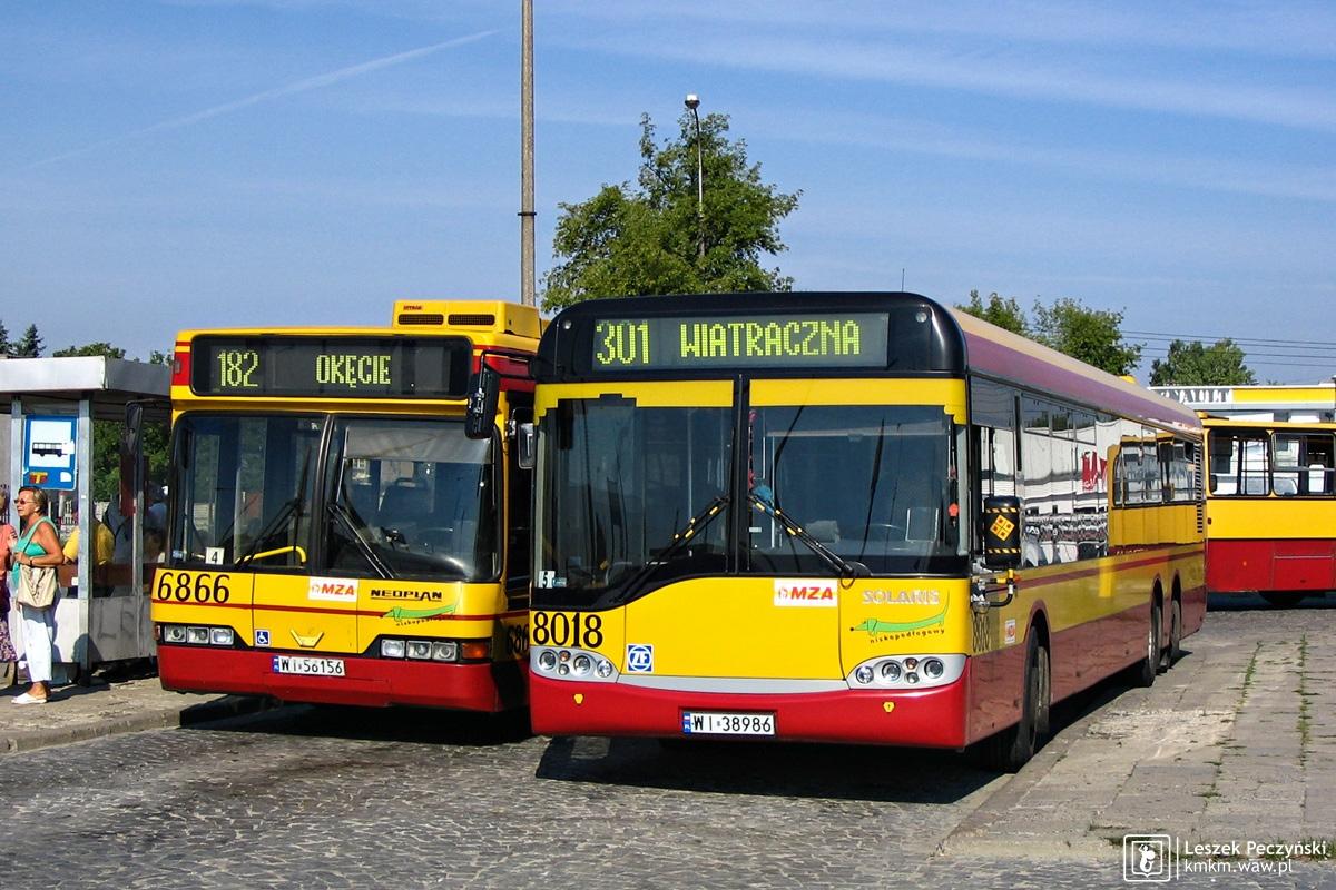 Neoplan N4020Td nr 6866 i Solaris Urbino 15 nr 8018