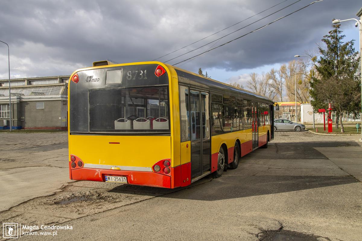 Solaris Urbino 15 nr 8731 - widok na tył