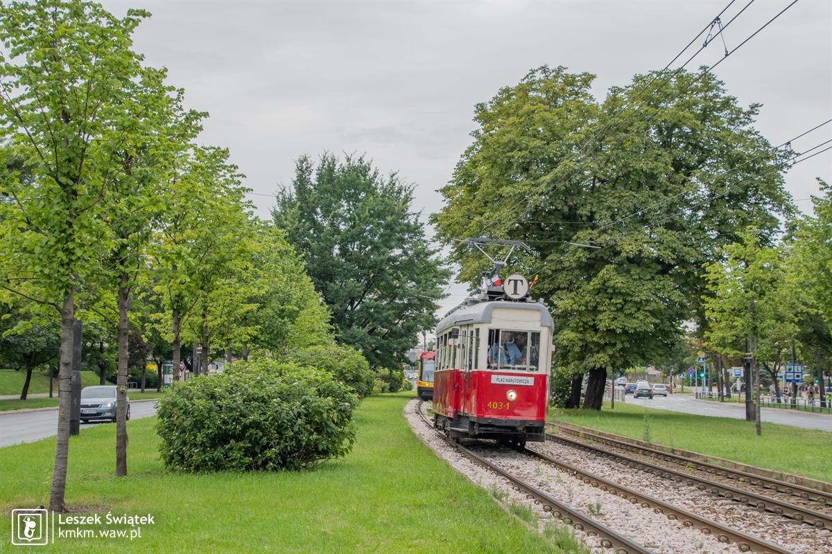 wagon K nr 403-1 na linii T