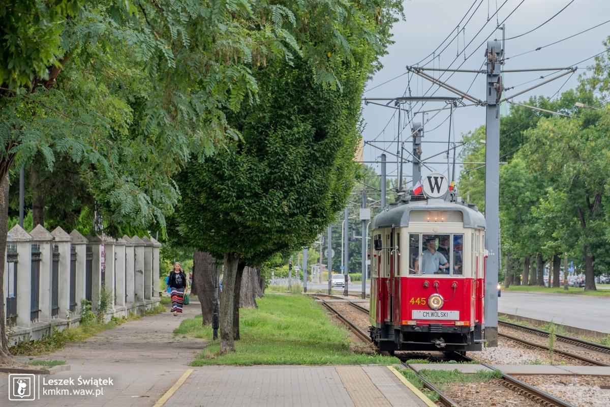 wagon K nr 445 na linii W