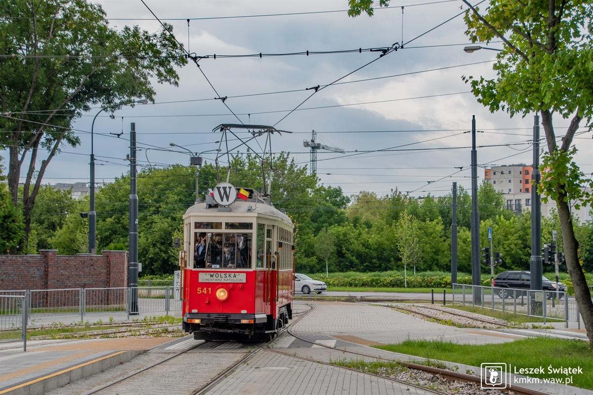 wagon Lw nr 541 na linii W