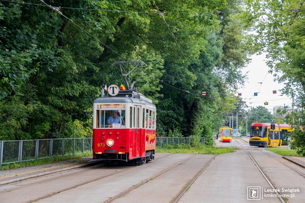 wagon 4N nr 873 na linii T